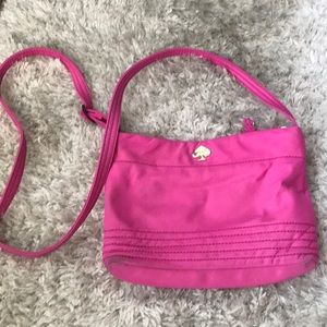 Kate Spade Hot Pink Nylon Crossbody Purse